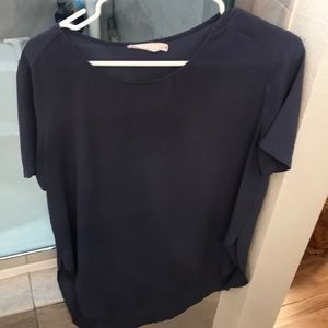 Lush blouse size M pewter gray color